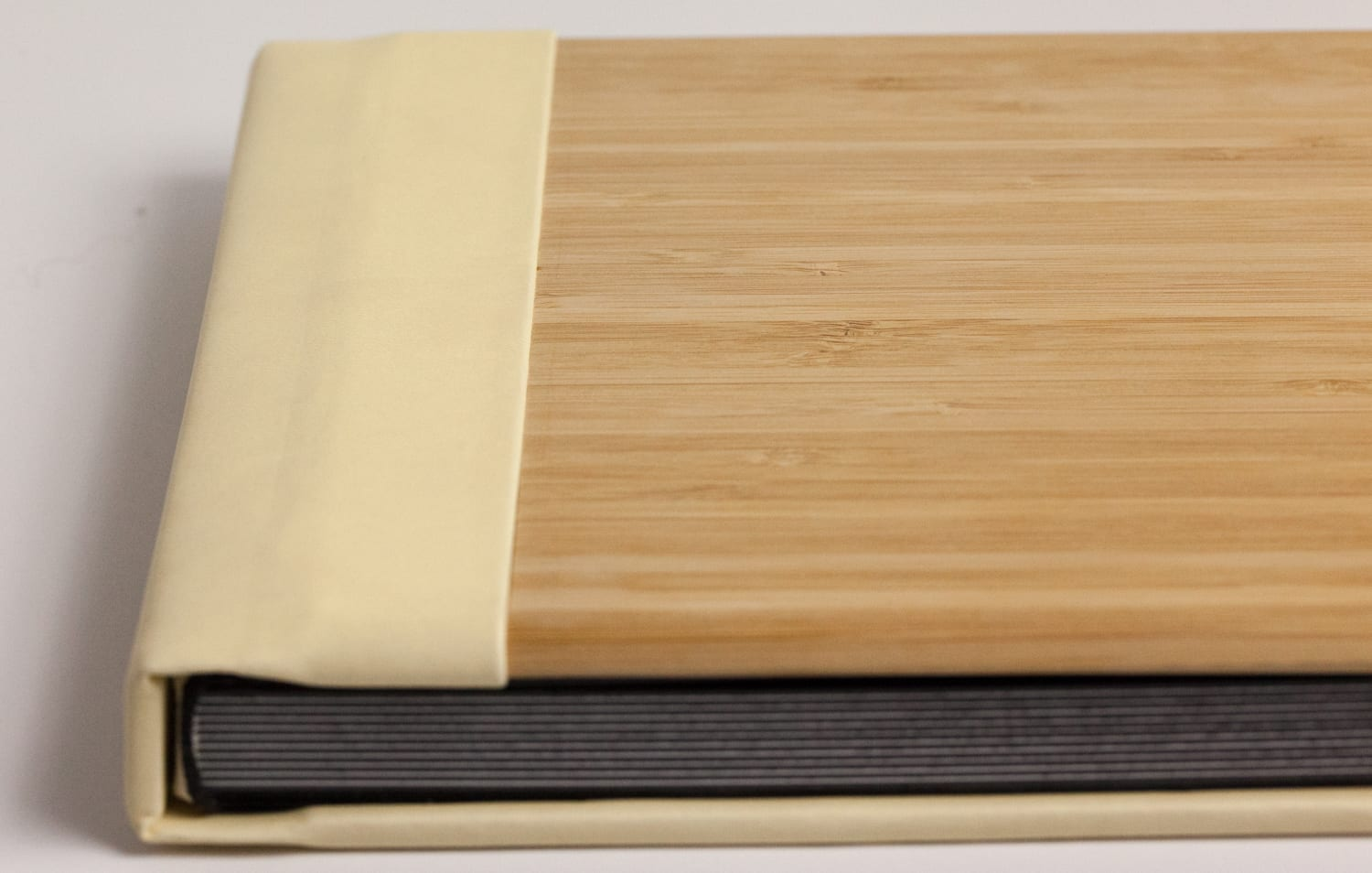 Bamboo Cover, buttercream spine & back